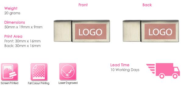 Zeus USB Stick Print Area